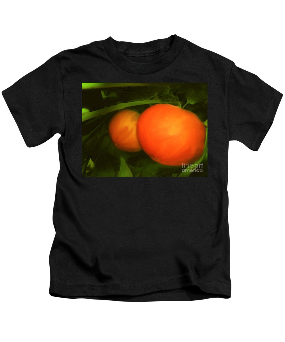 Red Kids T-Shirt featuring the painting Almost Ready by RC DeWinter