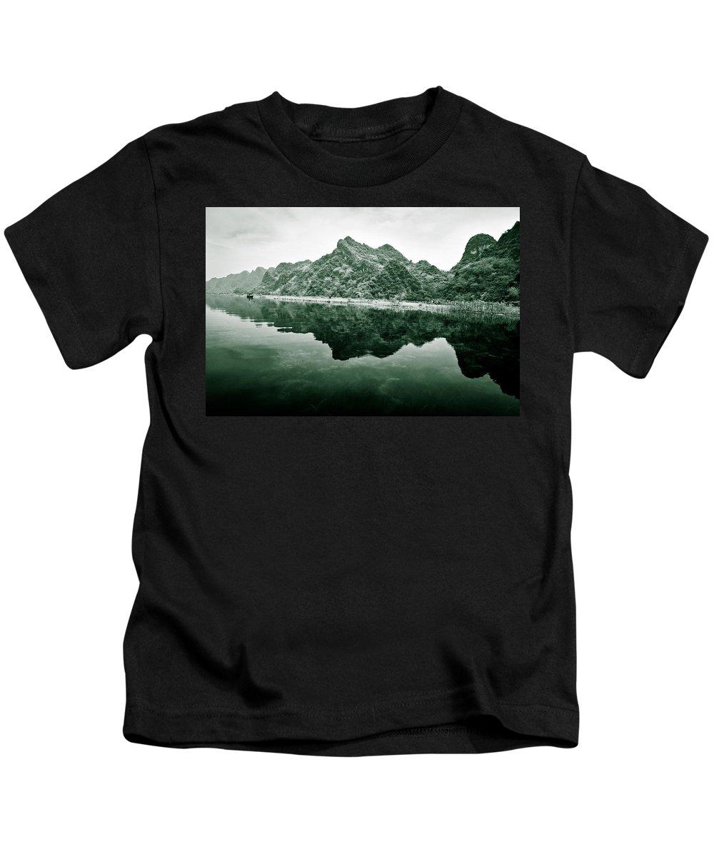 Yen Kids T-Shirt featuring the photograph Along The Yen River by Dave Bowman