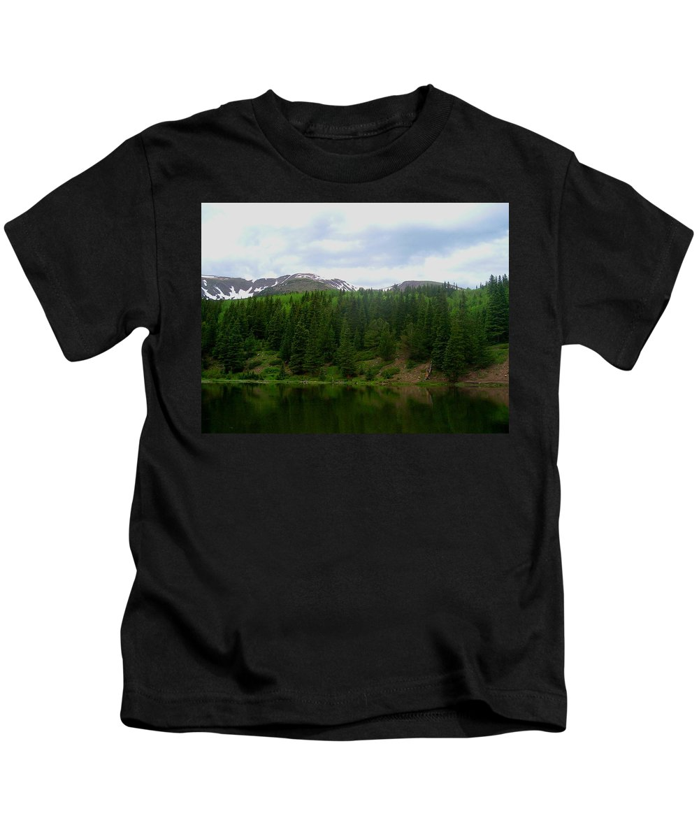 Alpine Lake Images Alpine Lake Prints Alpine Lake Pics Alpine Lake Photos Colorado Lake Images Mountain Lake Prints Nature Conservation Wilderness Preservation Great Outdoors Hiking Colorado Landscape Images Kids T-Shirt featuring the photograph Alpine Lake by Joshua Bales