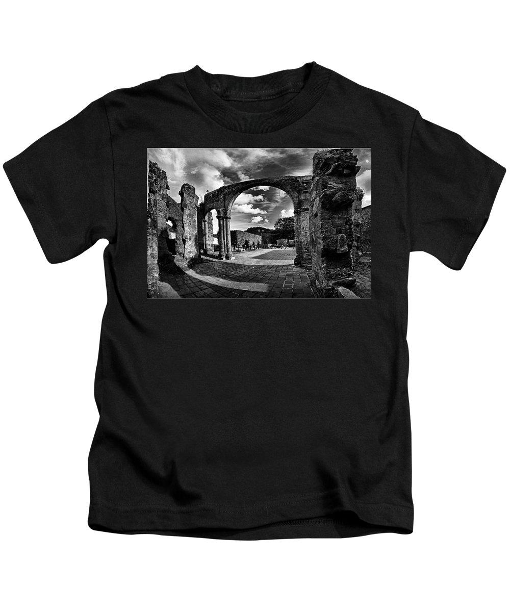Altagracia De Orituco Kids T-Shirt featuring the photograph Altagracia - Ruinas by Galeria Trompiz