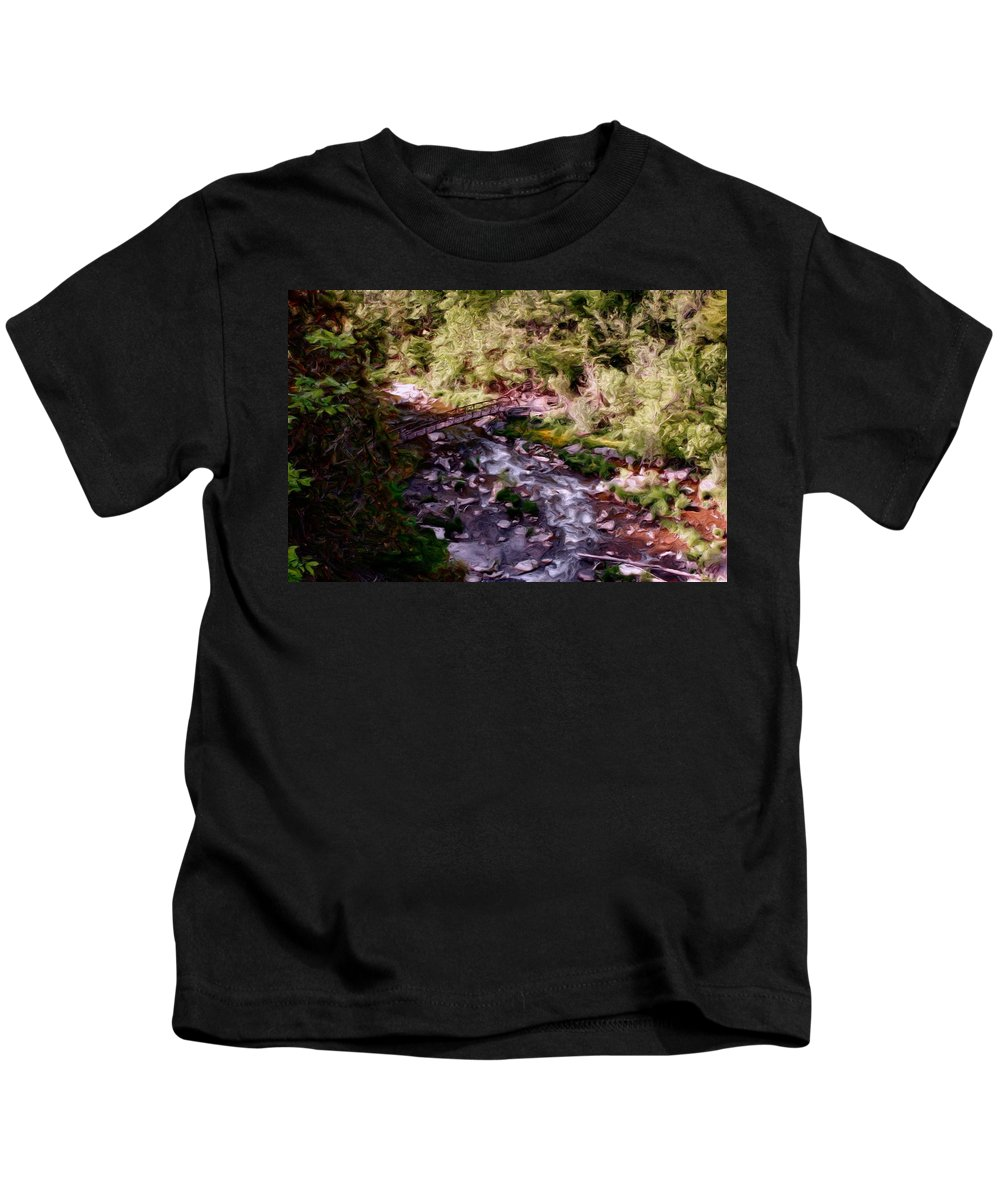 Digital Photography Kids T-Shirt featuring the digital art Altered States At The Park by David Lane