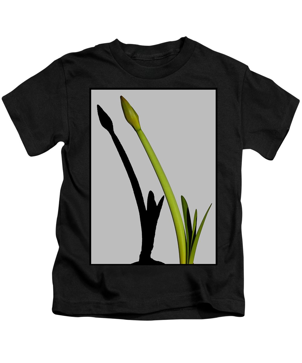 Amaryllis Kids T-Shirt featuring the photograph Amaryllis And Shadow by Robert Rienzo