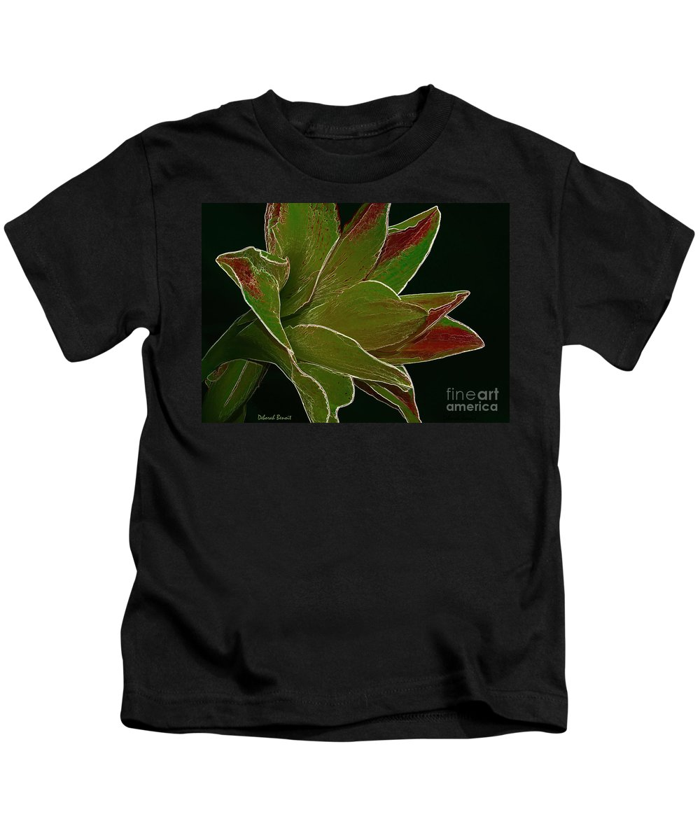 Amaryllis Flower Kids T-Shirt featuring the photograph Amaryllis Art by Deborah Benoit