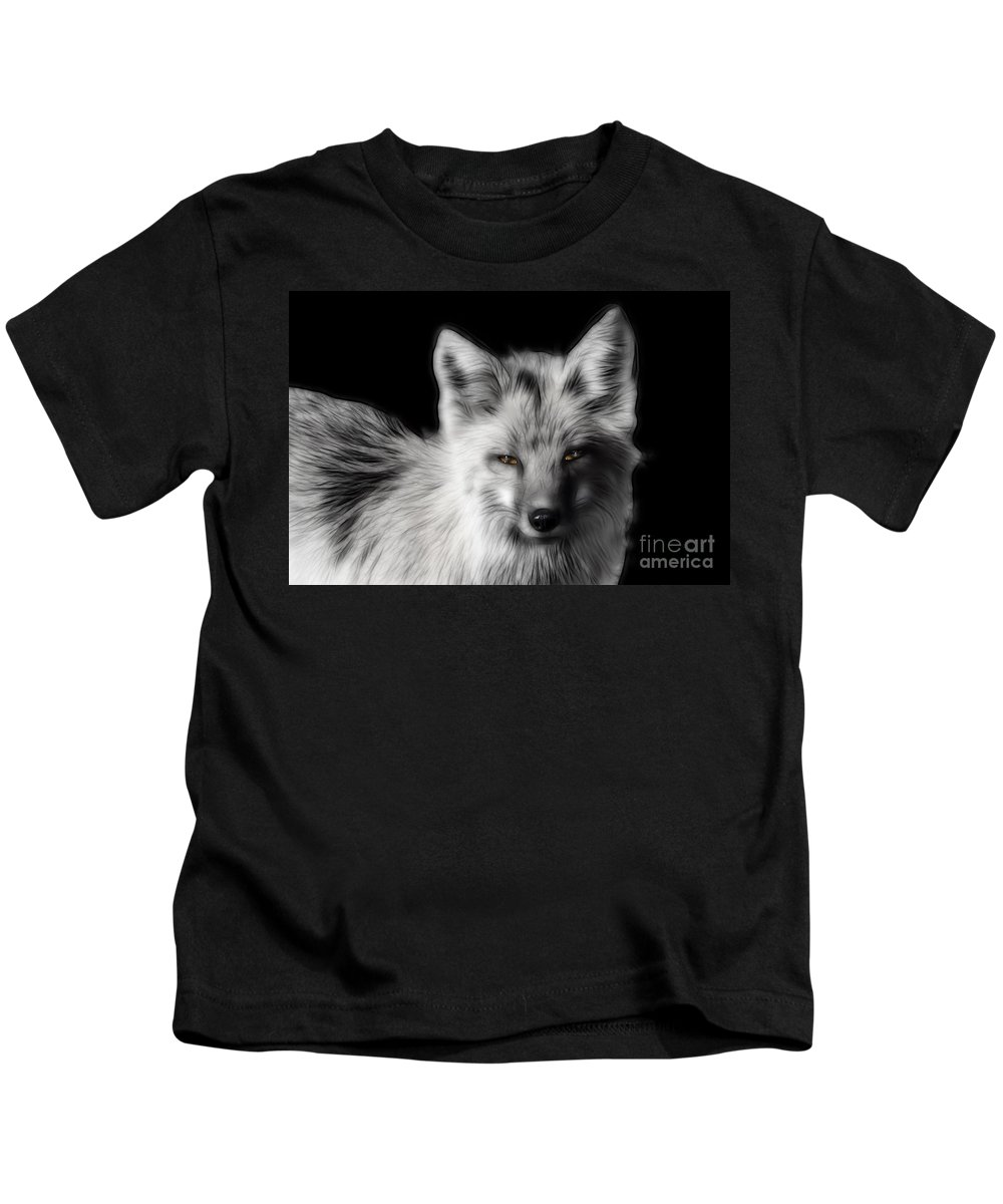 Animal Kids T-Shirt featuring the photograph Amber Eyes by Teresa Zieba