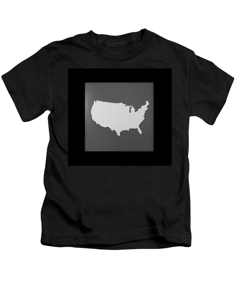 Black And White Kids T-Shirt featuring the photograph Amerika by Rob Hans