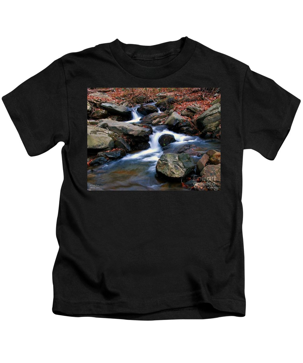 Water Kids T-Shirt featuring the photograph Amicalola Stream by Robert Meanor