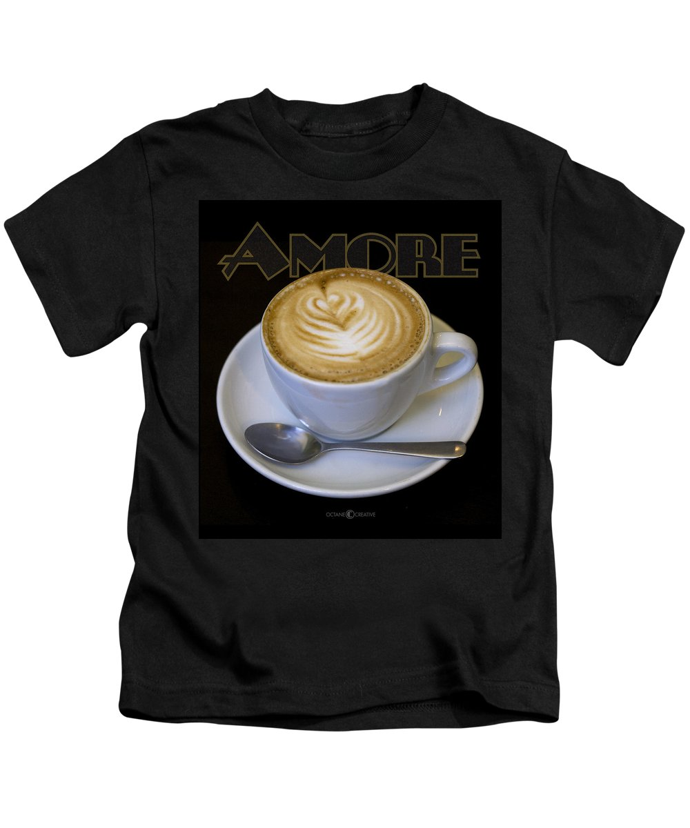 Coffee Kids T-Shirt featuring the photograph Amore Poster by Tim Nyberg