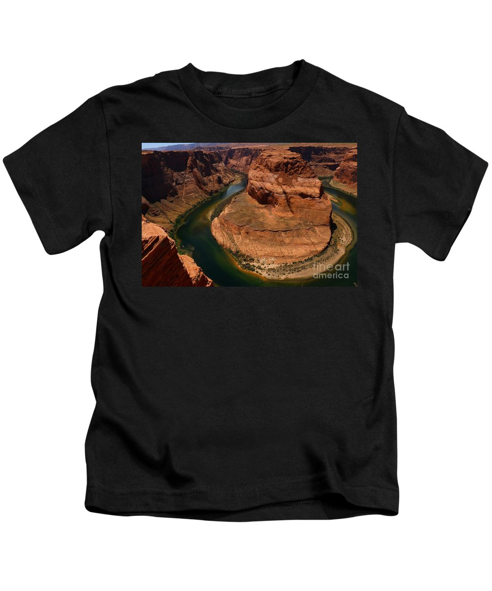 Canyon Kids T-Shirt featuring the photograph An Amazing Place - Horseshoe Bend by Christiane Schulze Art And Photography