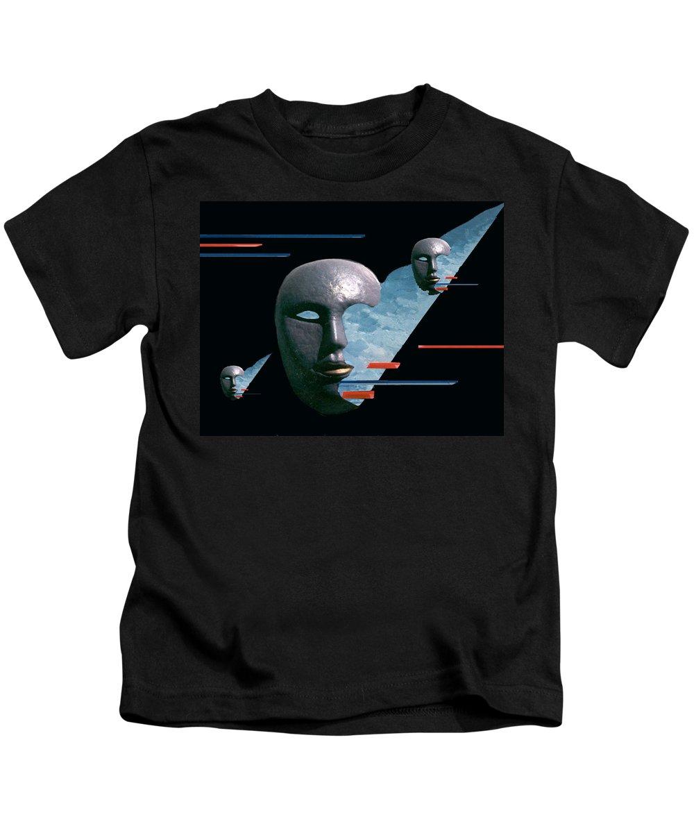 Surreal Kids T-Shirt featuring the digital art An Androids Dream by Steve Karol