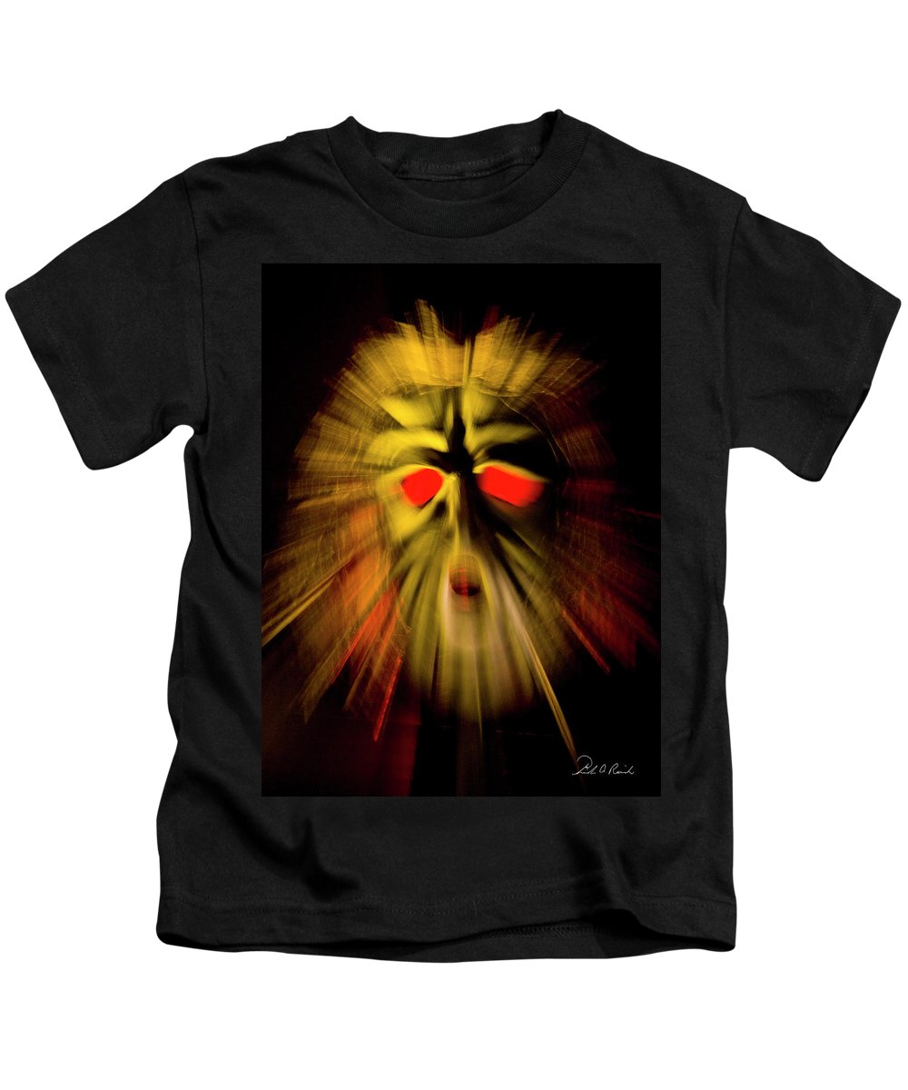 Color Kids T-Shirt featuring the photograph An Angry God by Frederic A Reinecke