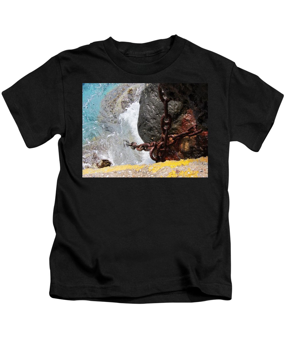 Anchor Kids T-Shirt featuring the photograph Anchors Away by Michelli Rios-Allen