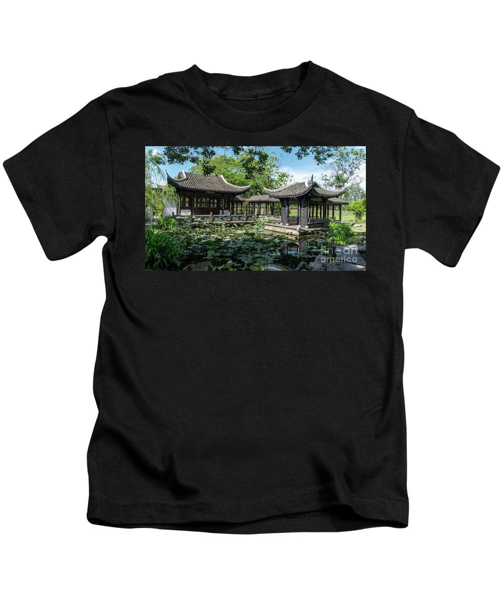 Chinese Kids T-Shirt featuring the photograph Ancient Chinese Architecture by Que Siam