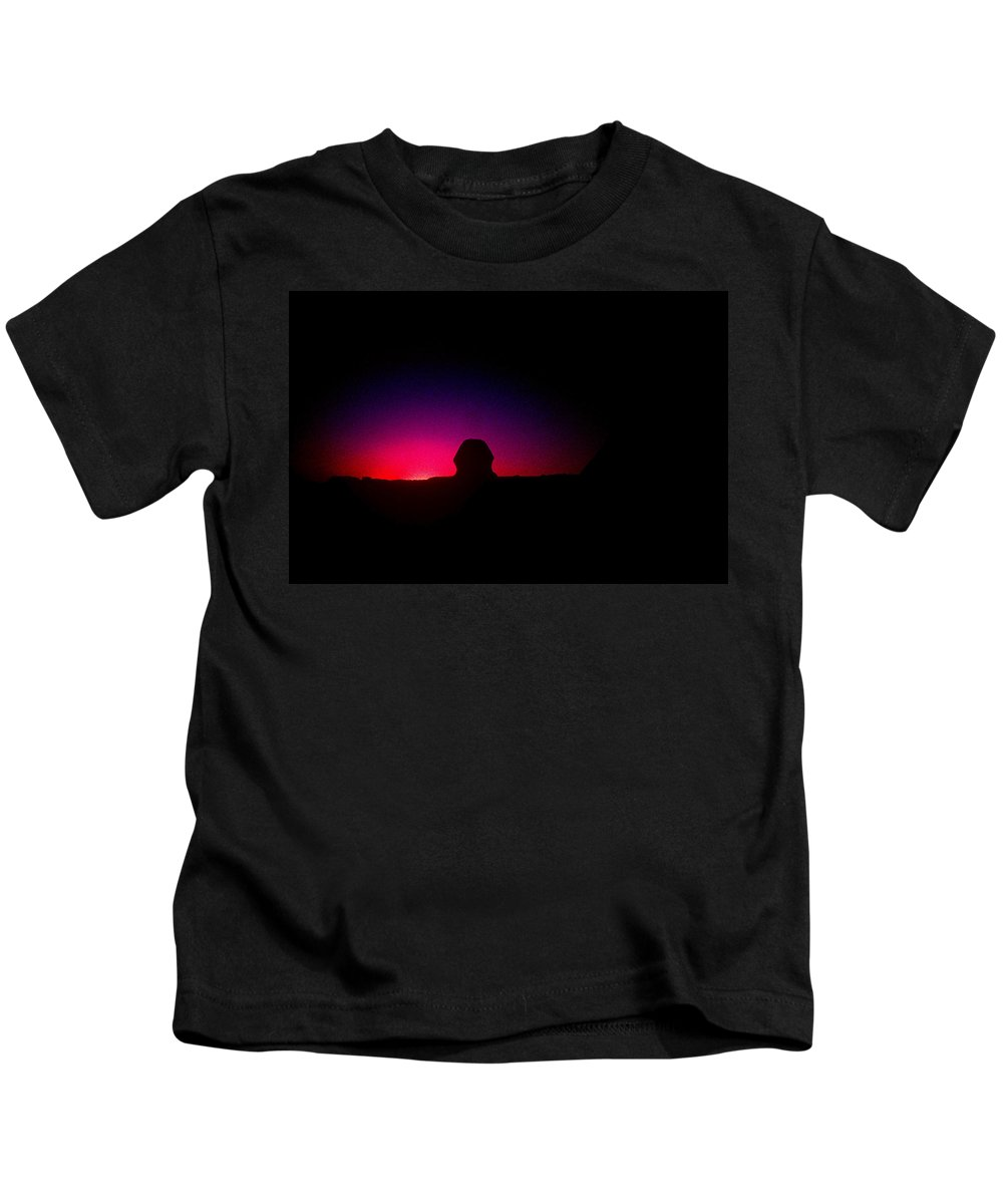 Sphinx Kids T-Shirt featuring the photograph Ancient Evenings by Gary Wonning