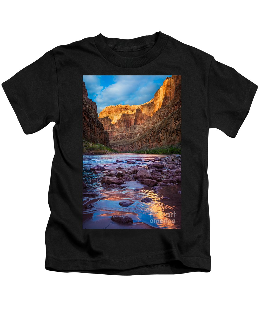America Kids T-Shirt featuring the photograph Ancient Shore by Inge Johnsson