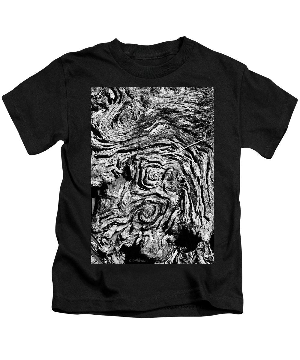 Tree Kids T-Shirt featuring the photograph Ancient Stump by Christopher Holmes