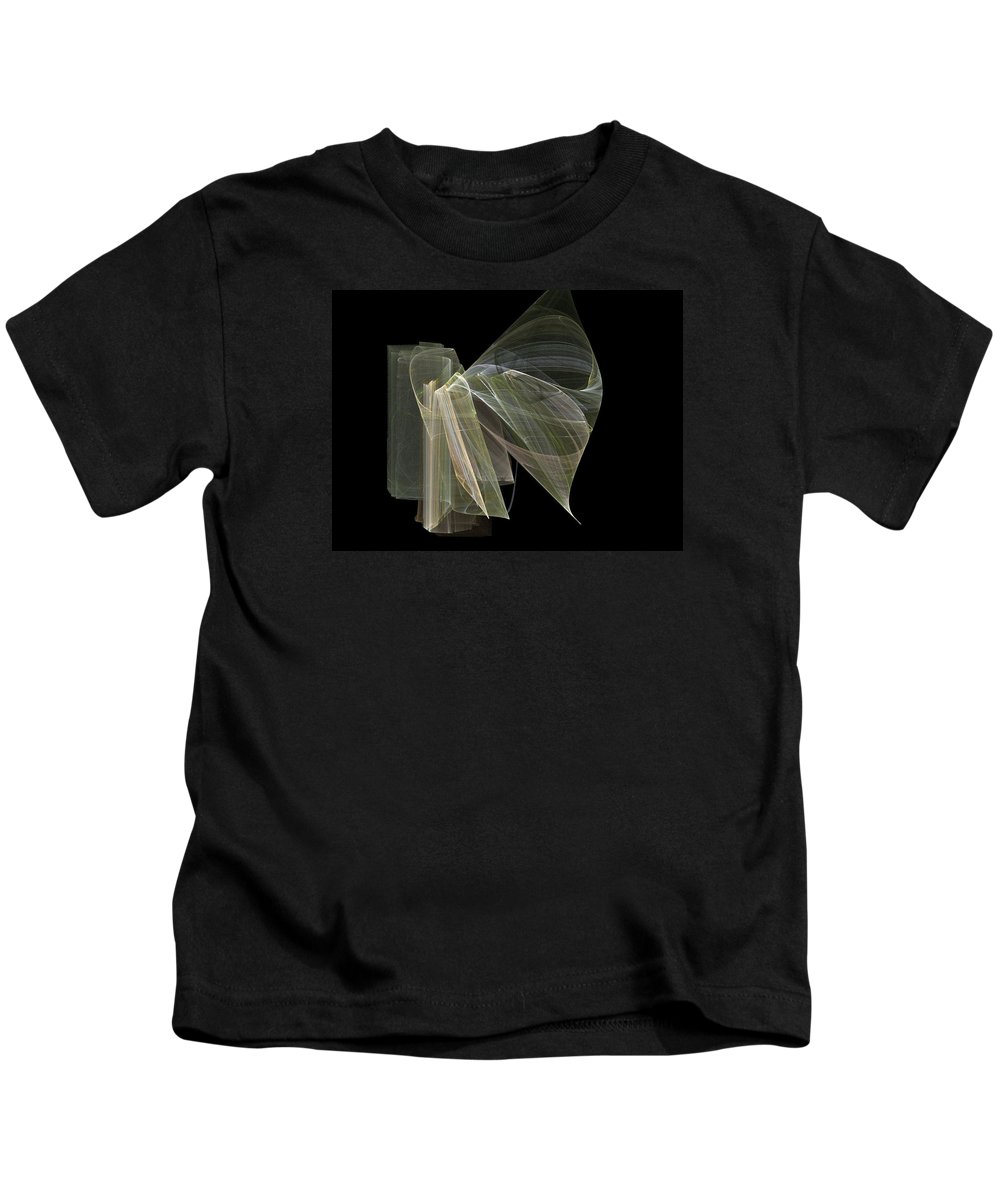 Experimental Kids T-Shirt featuring the digital art And The Angel Spoke..... by Jackie Mueller-Jones