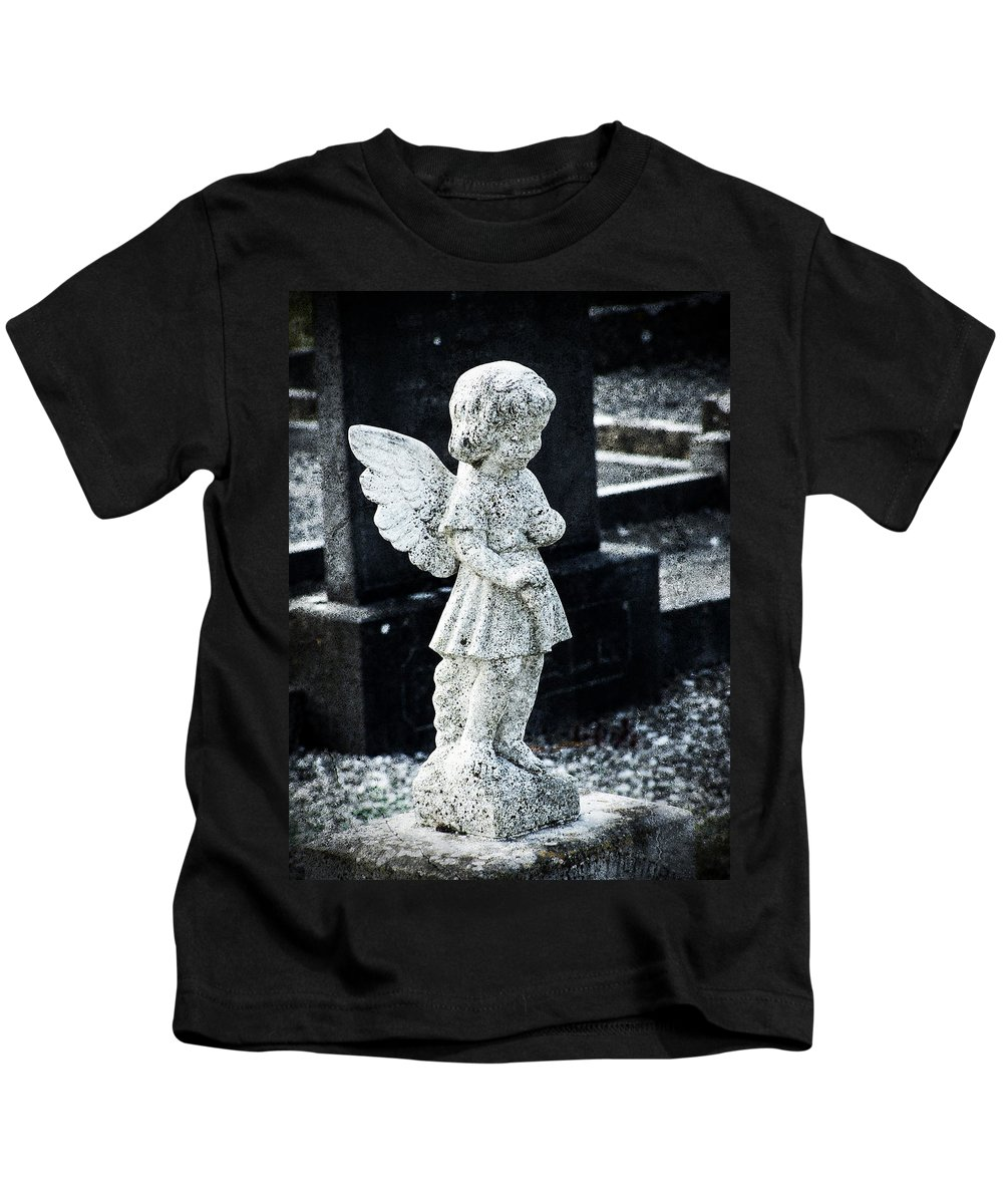 Ireland Kids T-Shirt featuring the photograph Angel In Roscommon No 3 by Teresa Mucha