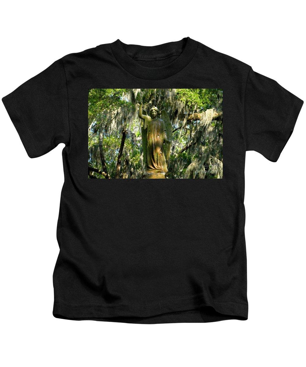 Savanna Georgia Kids T-Shirt featuring the photograph Angel Of Savanna by David Lee Thompson