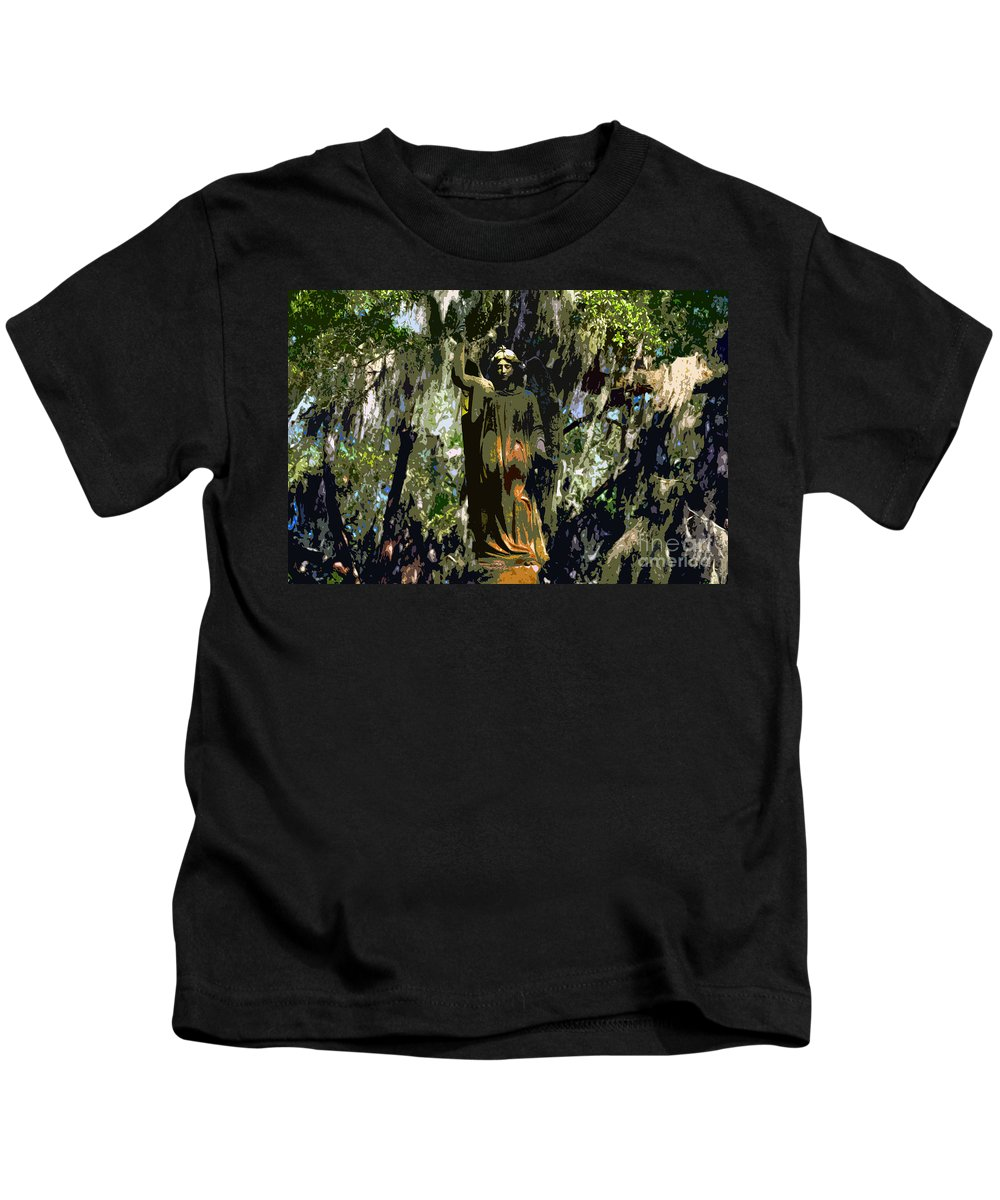 Angel Kids T-Shirt featuring the painting Angel Of Savannah by David Lee Thompson