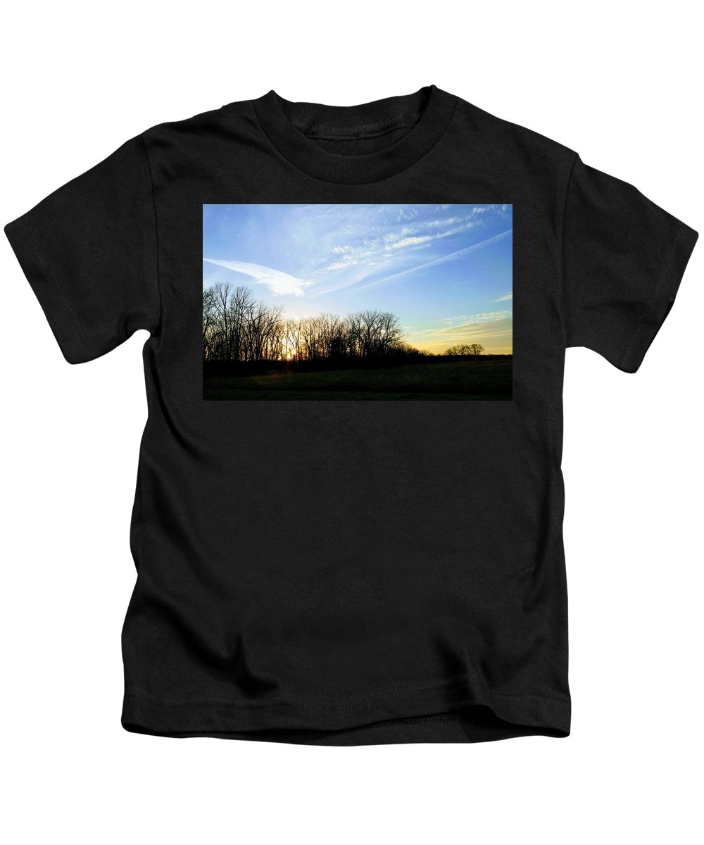 Landscape Kids T-Shirt featuring the photograph Angels Above by Stephanie Paasch