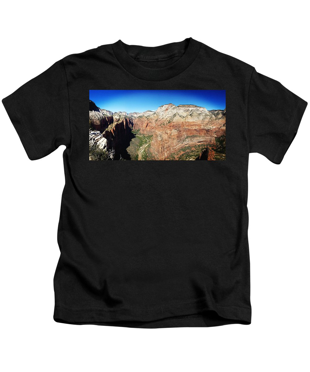 Landscape Kids T-Shirt featuring the photograph Angel's Landing by Brian Glennon