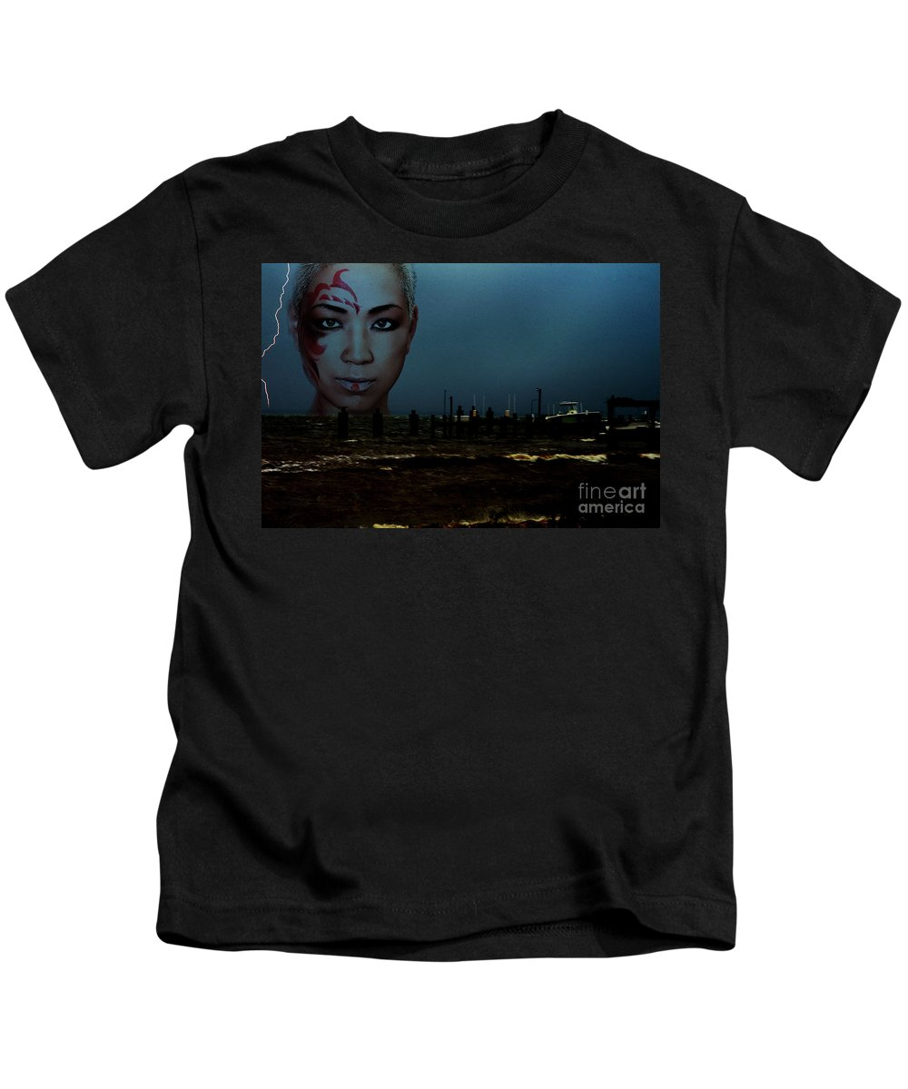 Clay Kids T-Shirt featuring the photograph Angry Sea by Clayton Bruster