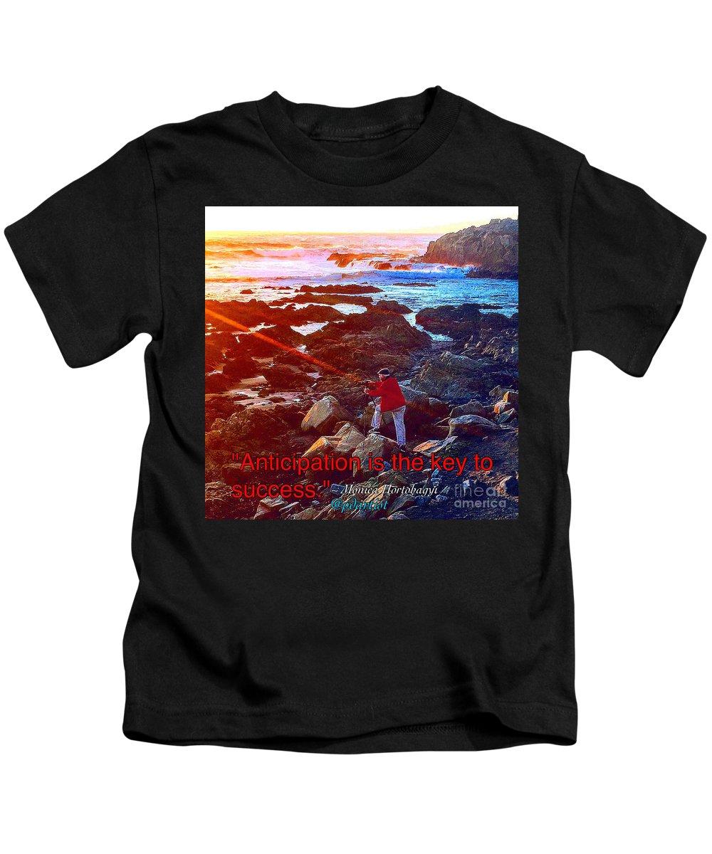 Seascape Kids T-Shirt featuring the photograph Anticipation by Phillip Allen