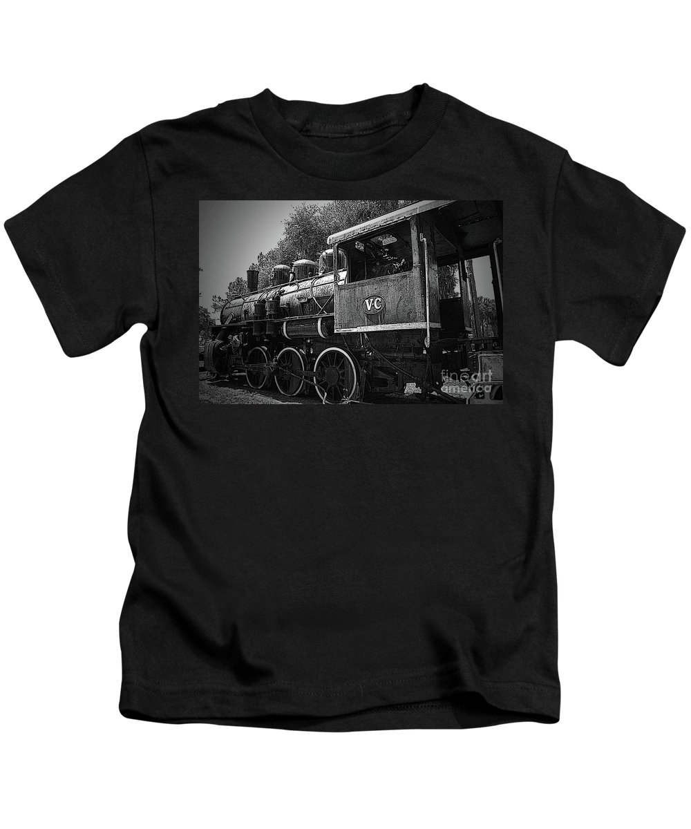 Locomotive Kids T-Shirt featuring the photograph Antique Loco by Jost Houk