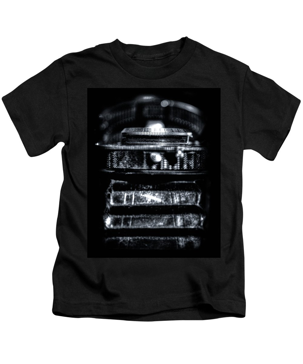 Camera Kids T-Shirt featuring the photograph Aperture Extents by Scott Wyatt