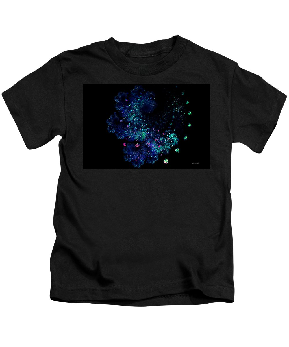 Fractal Kids T-Shirt featuring the digital art April Showers May Flowers by Claire Bull