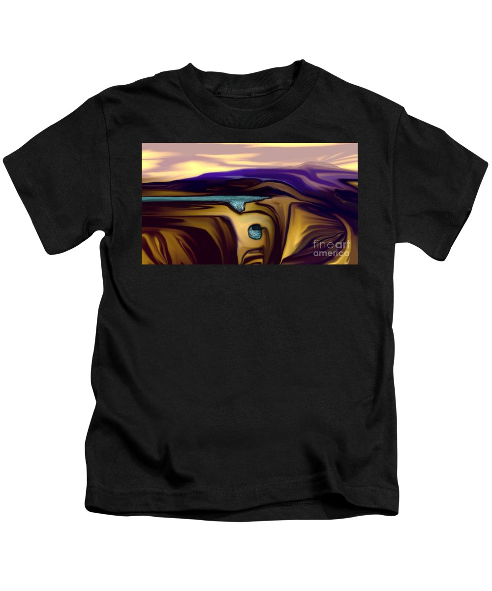Abstract Kids T-Shirt featuring the digital art Aquifer by David Lane