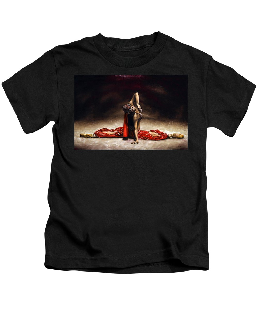 Ballerina Kids T-Shirt featuring the painting Arabian Coffee by Richard Young