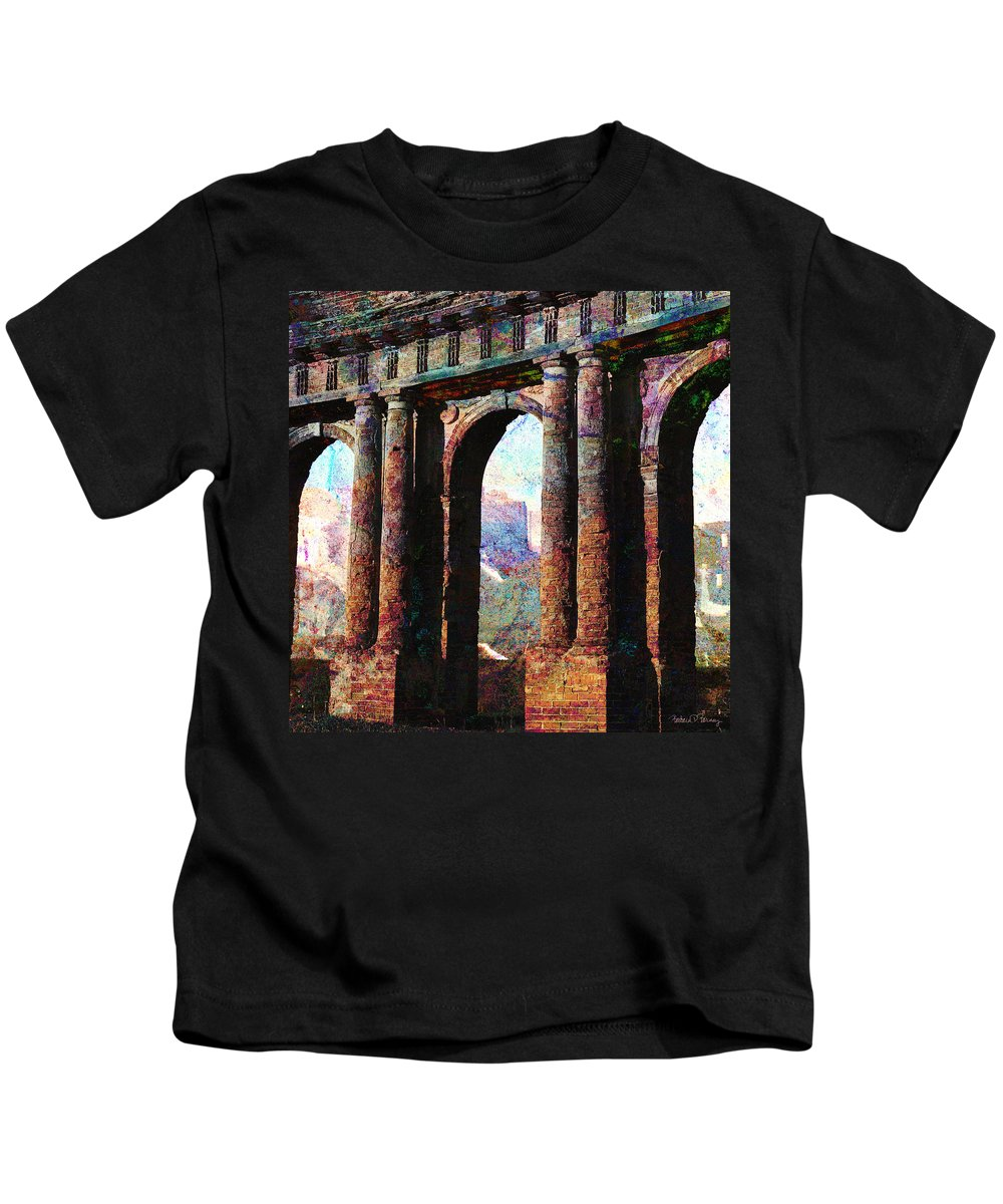 Arches Kids T-Shirt featuring the digital art Arches by Barbara Berney