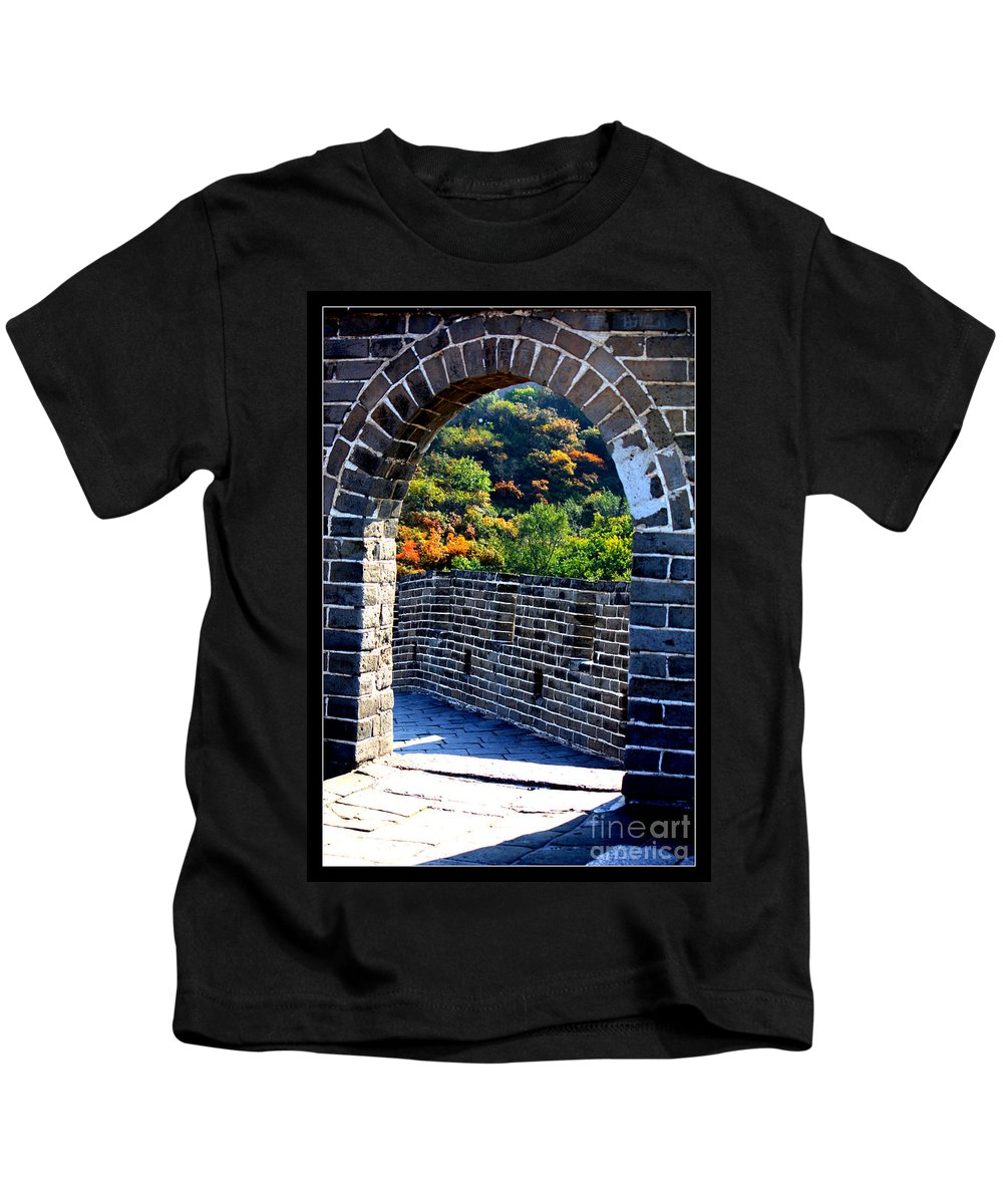 The Great Wall Of China Kids T-Shirt featuring the photograph Archway To Great Wall by Carol Groenen