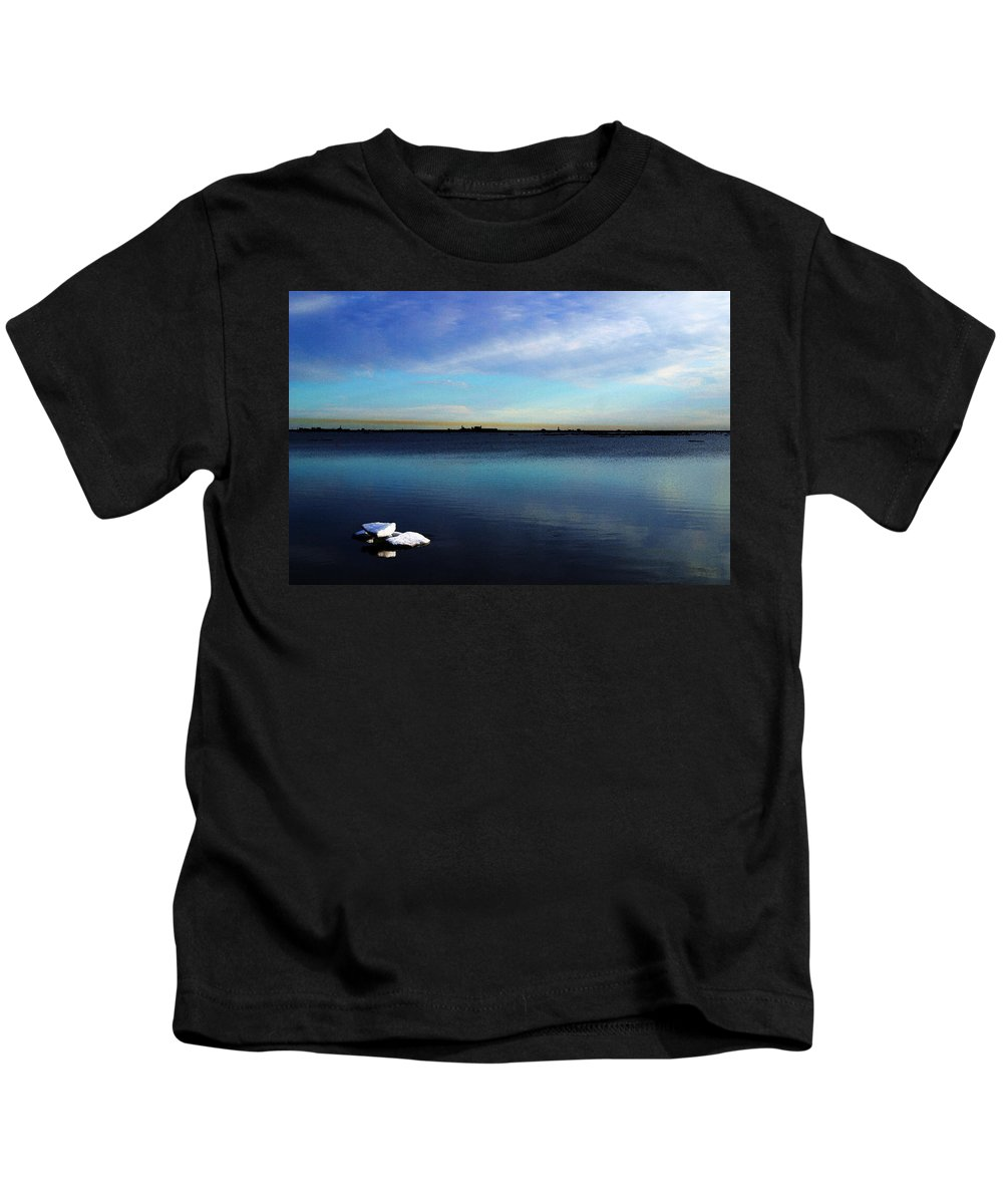 Digital Art Kids T-Shirt featuring the digital art Arctic Ice by Anthony Jones