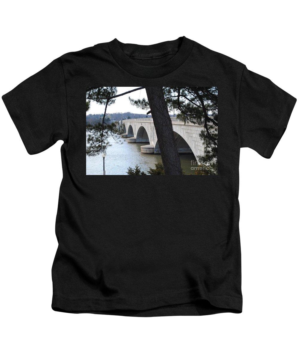 Washington Kids T-Shirt featuring the photograph Arlington Memorial Bridge by Jost Houk