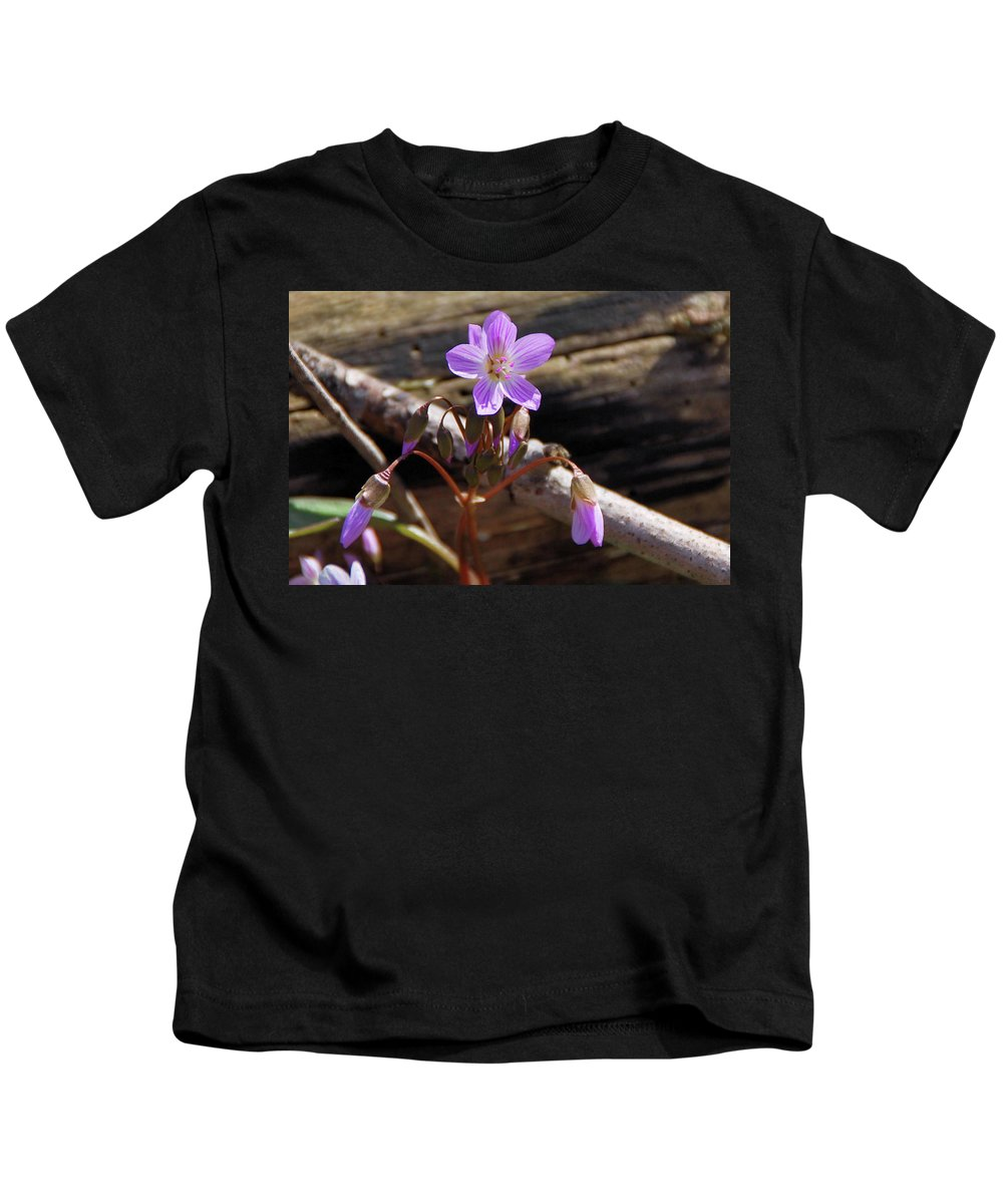 Flowers Kids T-Shirt featuring the photograph Arms Widespread 1203 by Guy Whiteley
