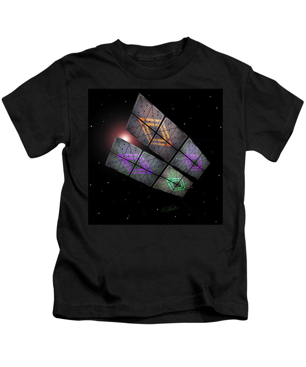 Scifi Kids T-Shirt featuring the photograph Arrival by Charles Stuart
