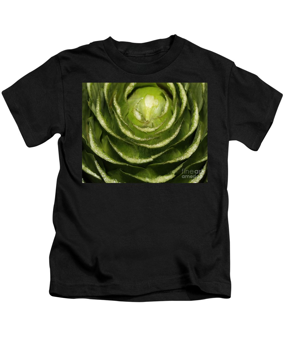 Veggies Kids T-Shirt featuring the photograph Artichoke Close-up by Carol Groenen