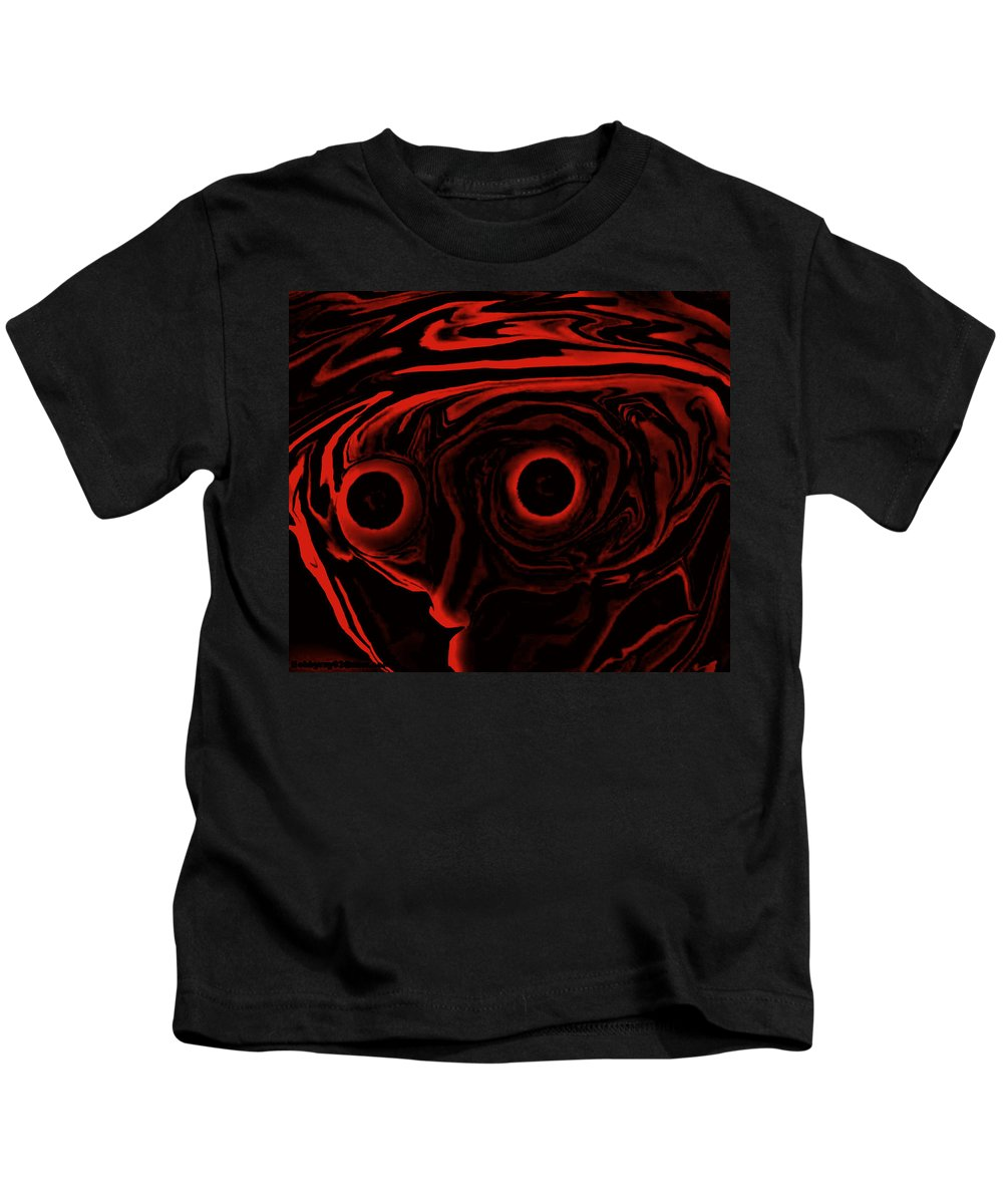 Art Painting Abstract Kids T-Shirt featuring the digital art Artie by Robert aka Bobby Ray Howle