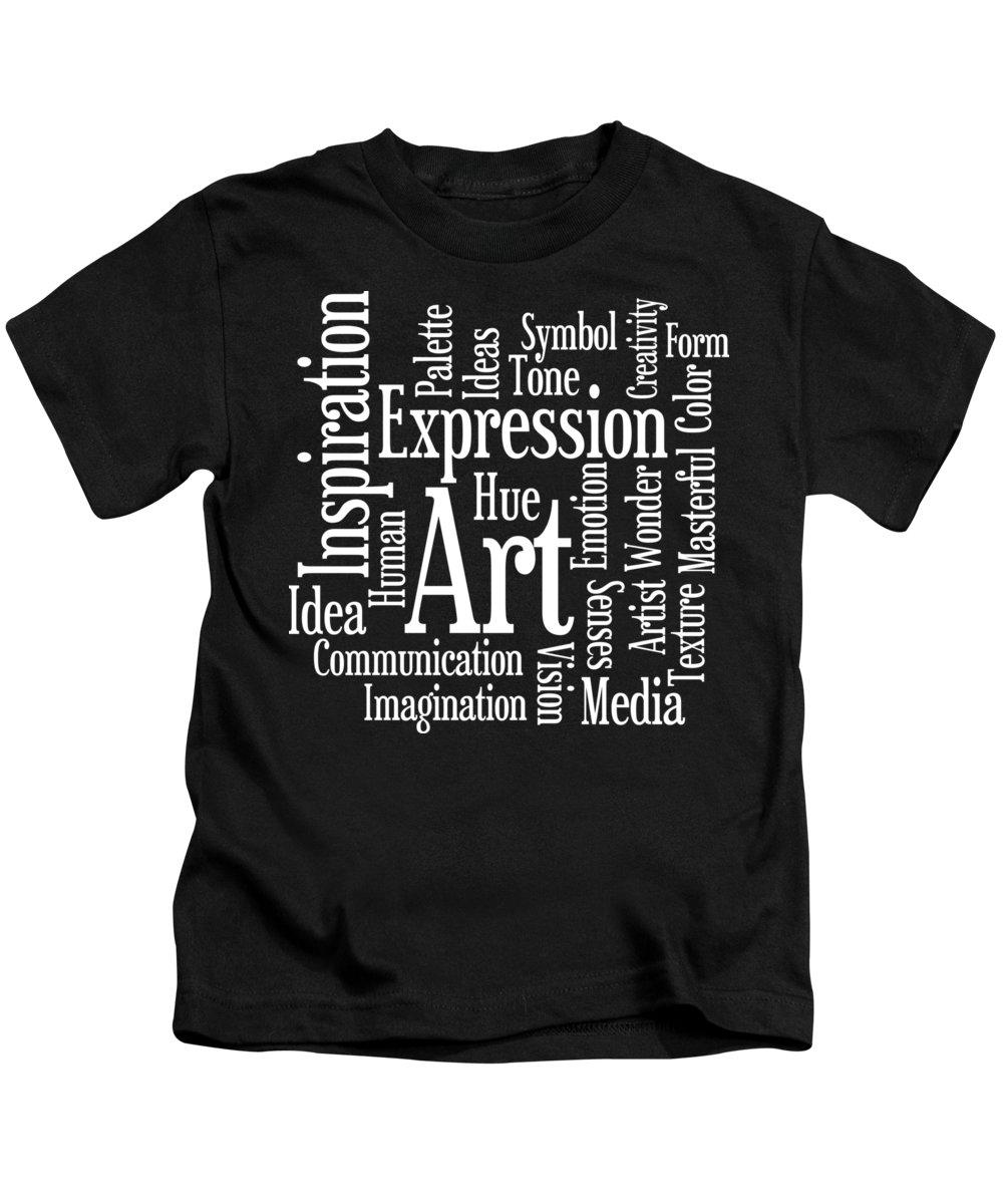 Art Kids T-Shirt featuring the digital art Artistic Inspiration by Antique Images