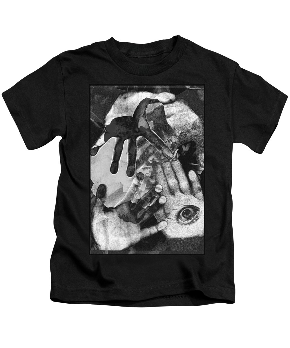 Hands Kids T-Shirt featuring the photograph Artist's Hands by Nancy Mueller