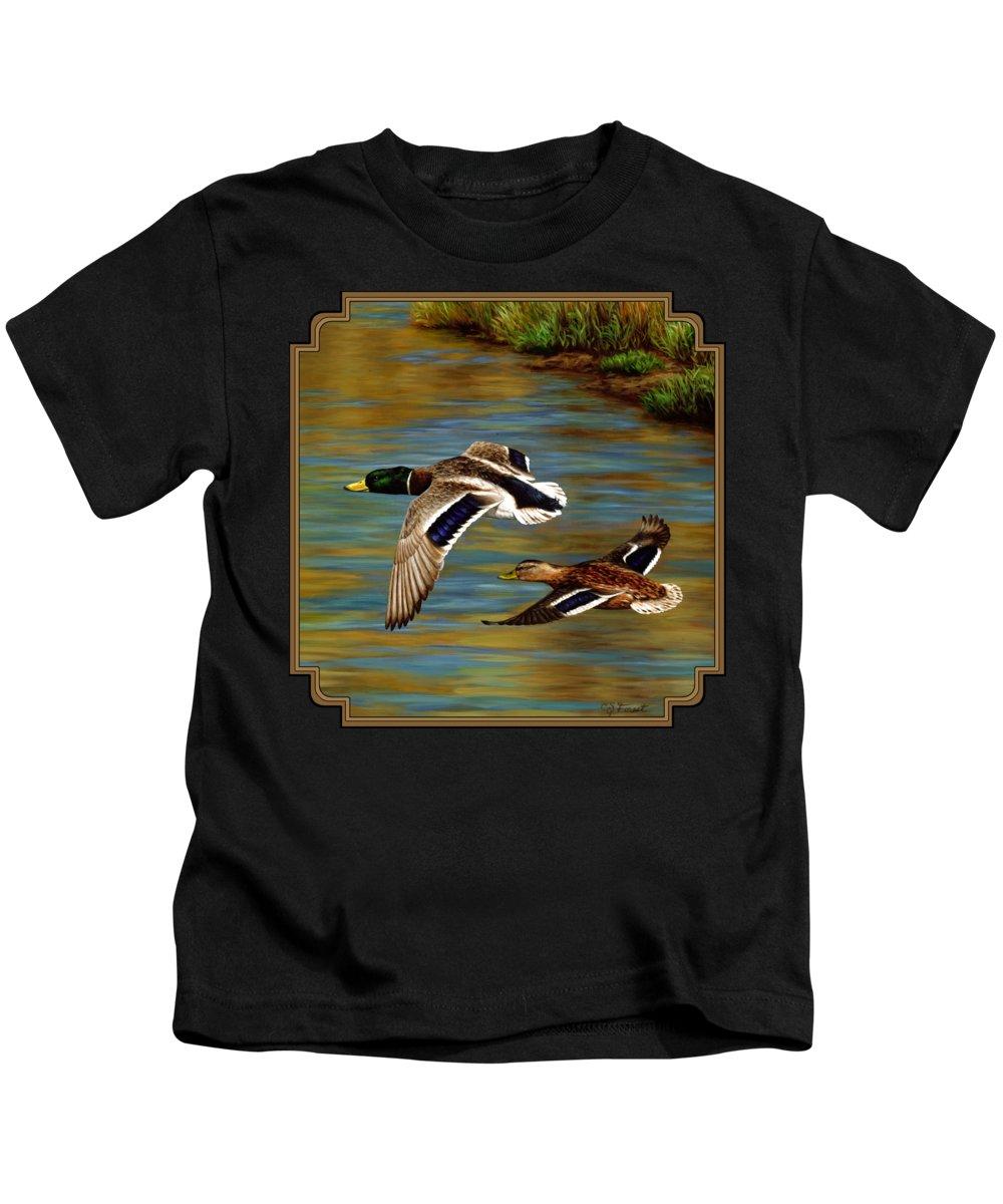 Pond Paintings Kids T-Shirts