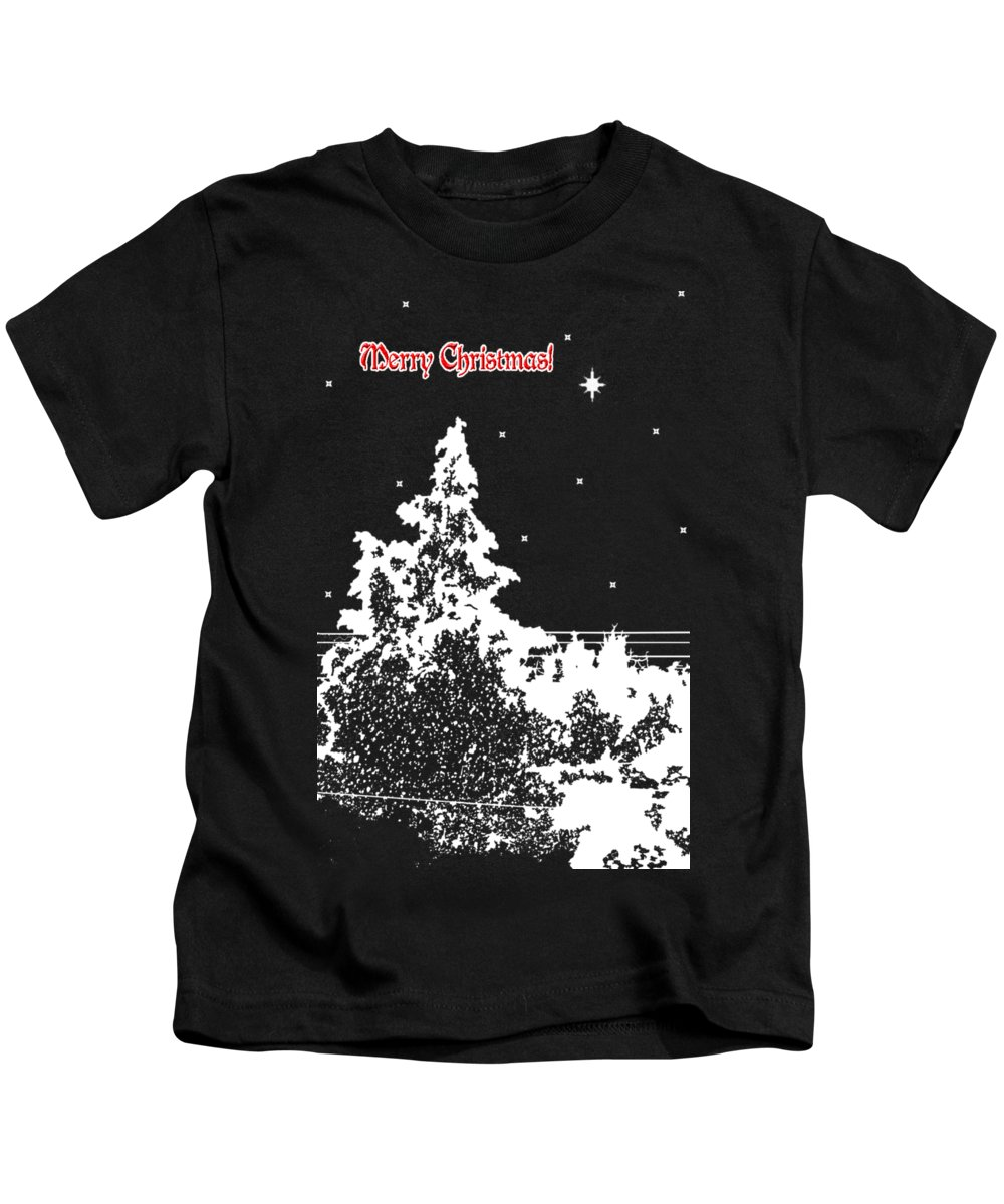 Winters Night Kids T-Shirt featuring the photograph Winter's Night by Methune Hively