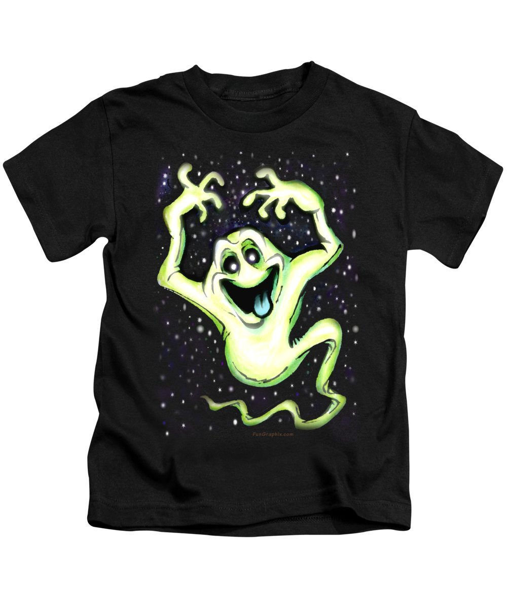 Halloween Kids T-Shirt featuring the painting Ghost by Kevin Middleton