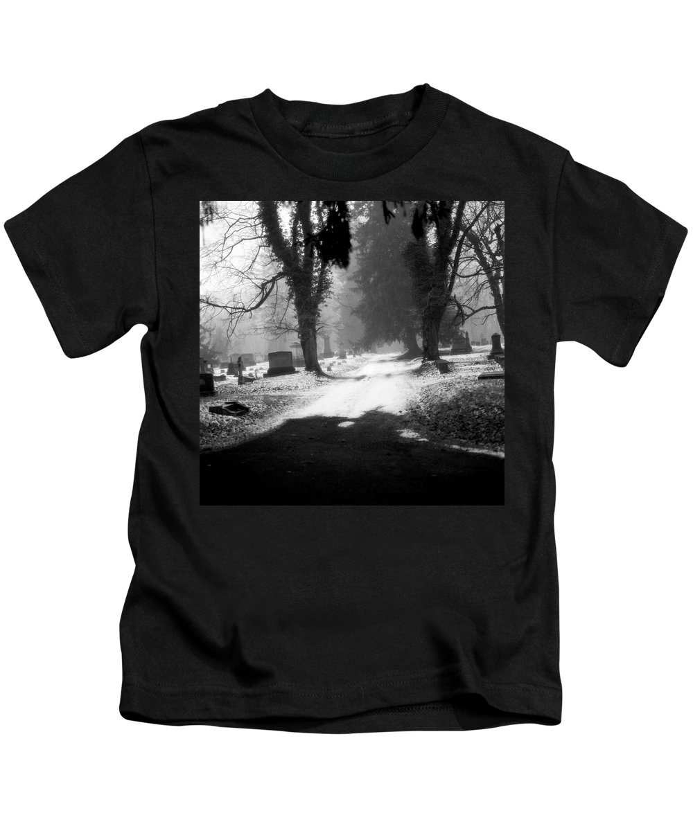 Photograph Kids T-Shirt featuring the photograph Ashland Cemetery by Jean Macaluso