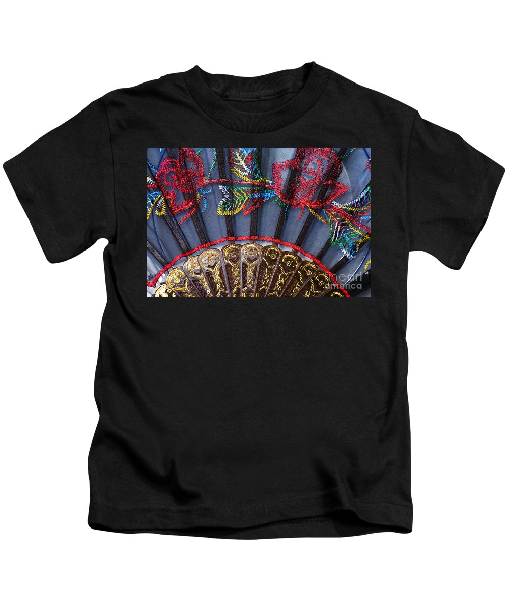 Asian Kids T-Shirt featuring the photograph Asian Fan by Ray Laskowitz - Printscapes
