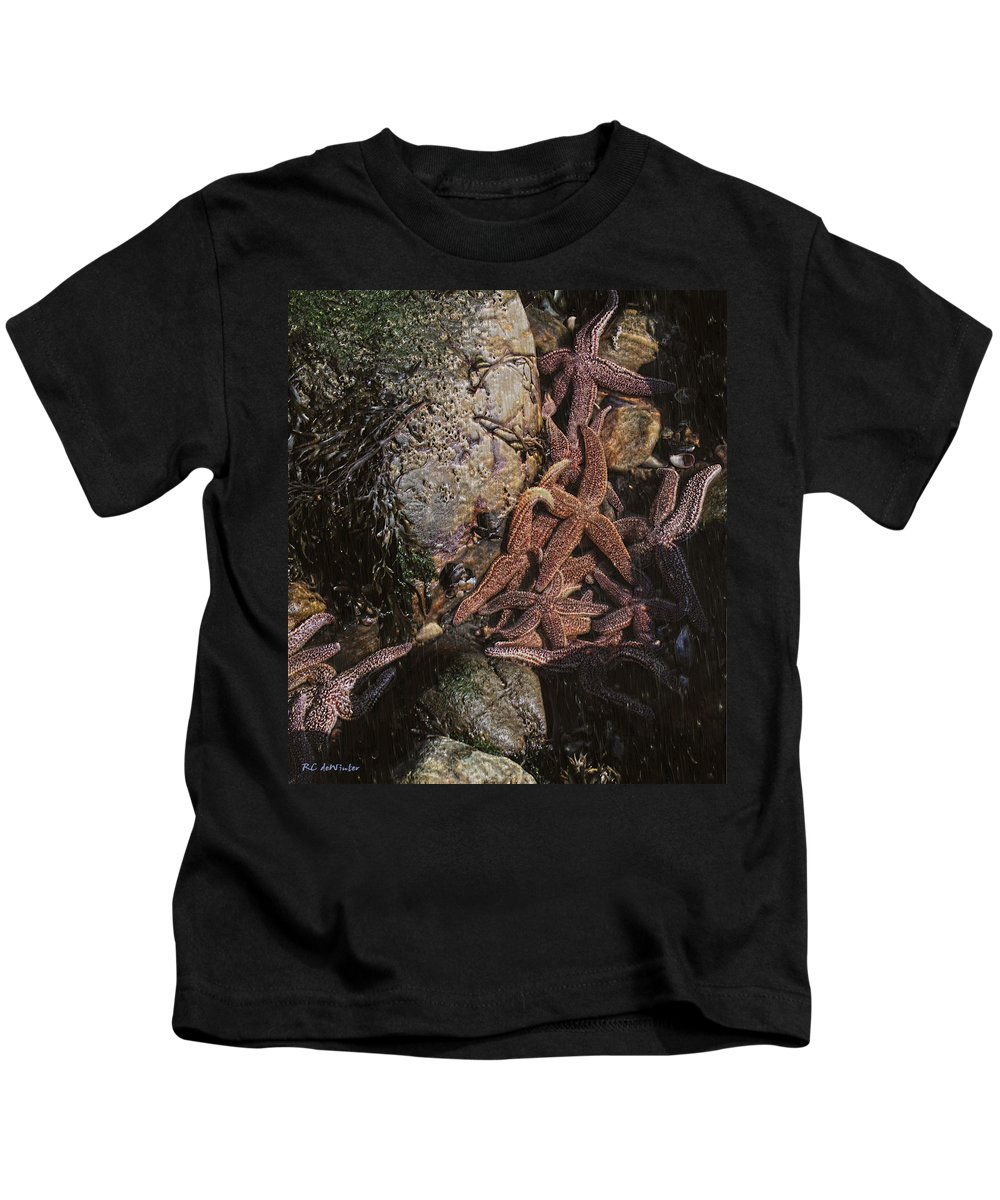 Starfish Kids T-Shirt featuring the painting Asteroid Belt by RC DeWinter