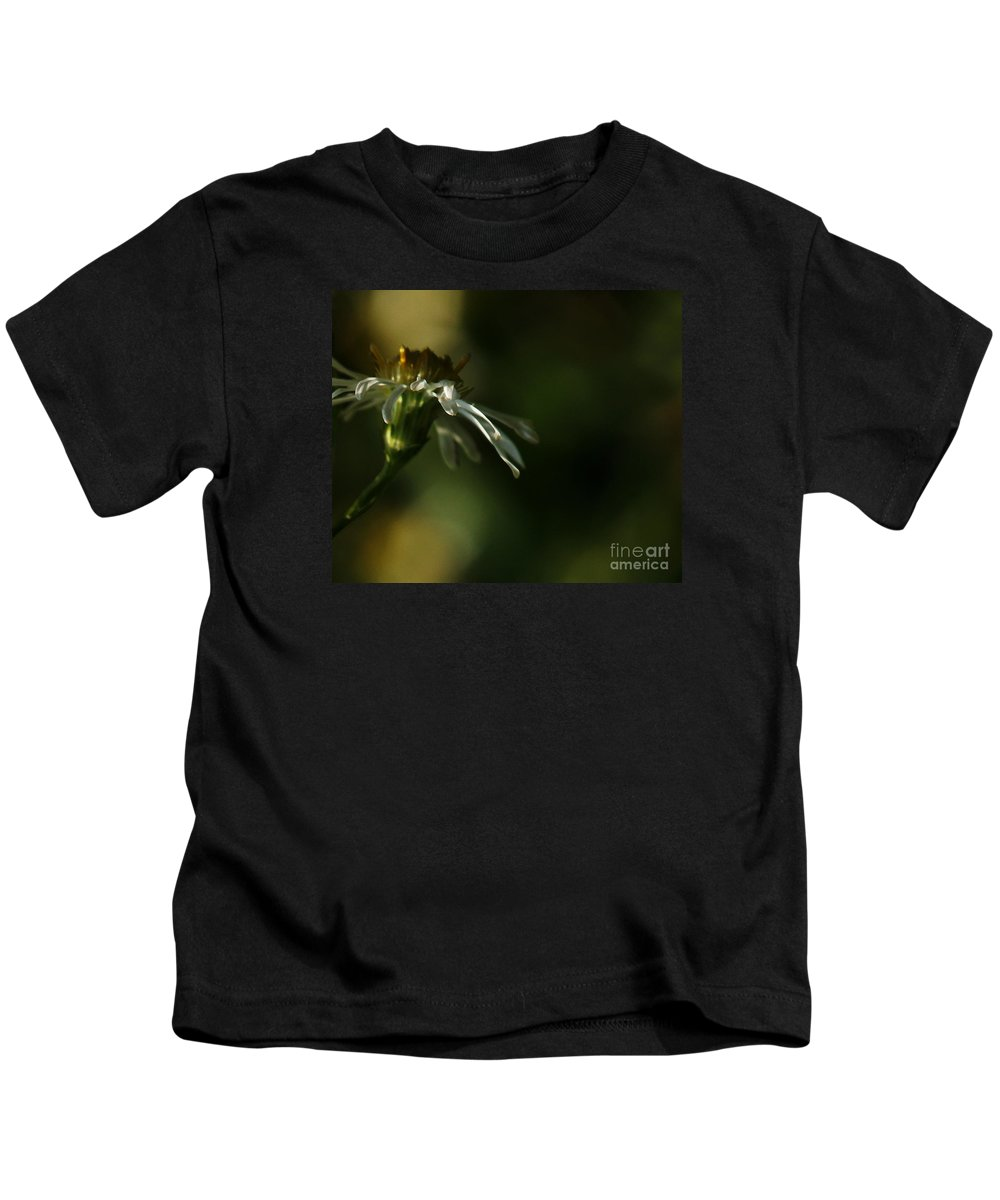 Flower Kids T-Shirt featuring the photograph Aster's Peripheral Ray by Linda Shafer