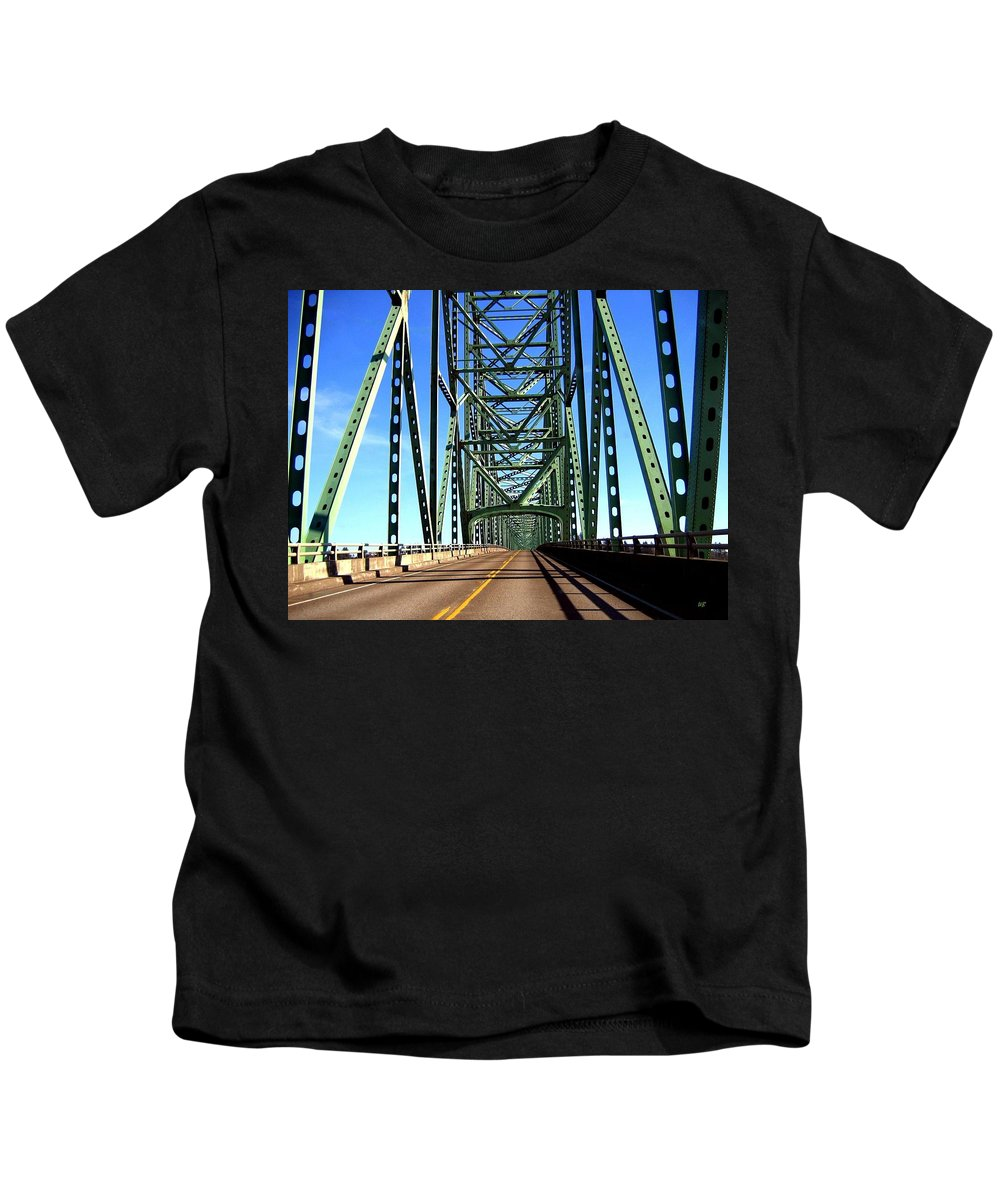 Bridge Kids T-Shirt featuring the photograph Astoria-megler Bridge by Will Borden